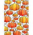 pumpkin watercolor for halloween vector image vector image