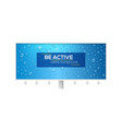 realistic water drops on long blue billboard vector image vector image