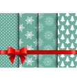 Set christmas seamless backgrounds vector image vector image