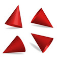 set red party hats vector image