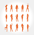 Sexy women silhouette vector | Price: 1 Credit (USD $1)