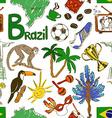 Sketch Brazil seamless pattern vector image