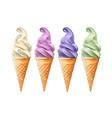 sn ice cream vector image vector image