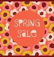 spring sale poster floral background vector image