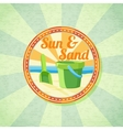 sun sand spade and bucket on summer shore vector image vector image