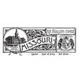 the state banner of missouri the bullion state vector image vector image