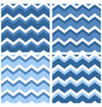 tile chevron pattern set with sailor blue vector image