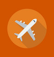 Travel Flat Icon Plane vector image vector image