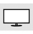 tv flat screen lcd monitor realistic vector image