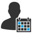 user schedule flat icon vector image vector image