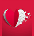 valentines day background with hearts cut from vector image