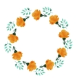 watercolor floral wreath flower round vector image vector image