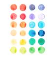 Watercolor paints palette vector image vector image