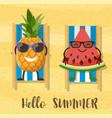 watermelons cartoon character vector image vector image