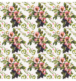Wild Roses Floral Bouquet Pattern vector image vector image