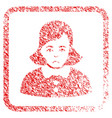 woman framed stamp vector image