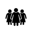 women or female group glyph icon vector image