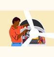 work repair engineering mechanics concept vector image