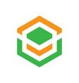 abstract hexagon business logo image vector image