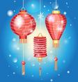 Stock Chinese New Year with flashlights vector image