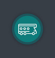 camping truck line icon camper vector image