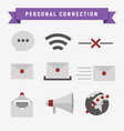 personal connection icon set vector image