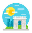Arc de Triomphe flat design vector image