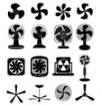 Fans icons set vector image