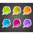 speech bubbles in the shape of a flower vector image