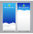 029 Merry Christmas banner Collection of greeting vector image vector image