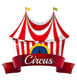 A circus label vector image vector image
