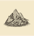 a mountain view hand drawn vector image