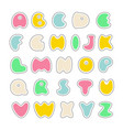 abs stickers vector image