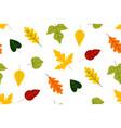 autumn leaf fall oak leaves in orange vector image