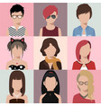 avatar women vector image