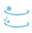 background with blue snowflake vector image