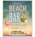 beach bar sunset vector image