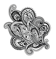 Beautiful floral ornament vector