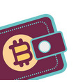bitcoin virtual wallet vector image vector image