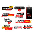 black friday labels sale sticker for thanksgiving vector image