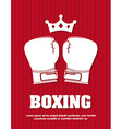 boxing design vector image vector image