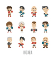 boxing player eps10 format vector image