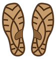 brown rubber shoe sole vector image vector image