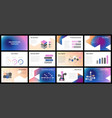 business presentation templates vector image vector image