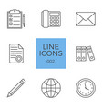 business related line icons set vector image vector image