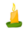 candle isolated vector image vector image