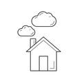 carbon dioxide emission line icon vector image vector image