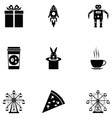 carnival icon set vector image