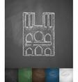 Castle icon Hand drawn vector image vector image