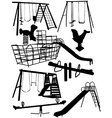 Childrens playground equipment vector image